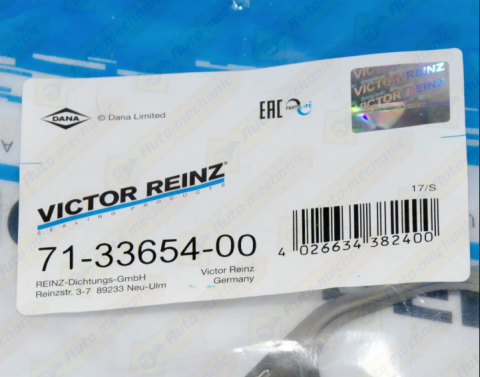 Прокладка випускного колектора Renault Master/Trafic 2.8 VICTOR REINZ image 1 | Renaultmaster.com.ua