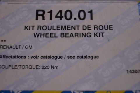 Комплект підшипників ступиці Renault Master 1998- SNR зад r16 image 3   Renaultmaster.com.ua