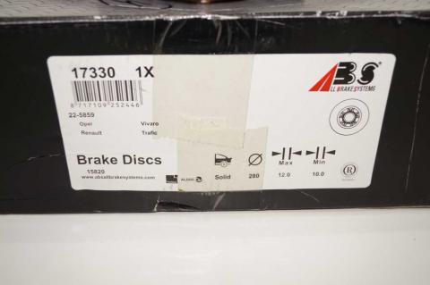 Гальмівний диск Renault Trafic II задній ABS image 3