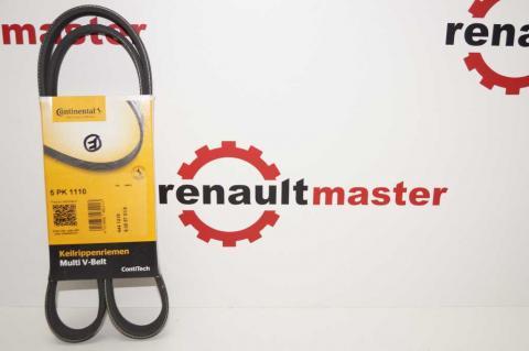 Полі клиновий (дорожечний) ремінь 5 PK 1110 Renault Master 2.5 з 2007 Contitech один ролик image 2 | Renaultmaster.com.ua