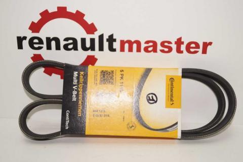 Полі клиновий (дорожечний) ремінь 5 PK 1110 Renault Master 2.5 з 2007 Contitech один ролик image 1 | Renaultmaster.com.ua