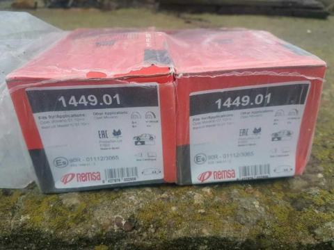 Гальмівні колодки передні Master10- REMSA image 1 | Renaultmaster.com.ua