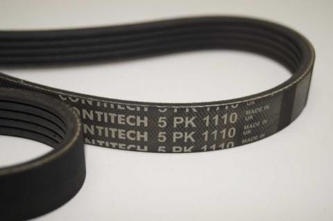 Полі клиновий (дорожечний) ремінь 5 PK 1110 Renault Master 2.5 з 2007 Contitech один ролик image 5 | Renaultmaster.com.ua