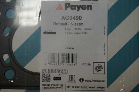 Прокладка головки блока цилиндров Renault Kangoo 1.5 PAYEN image 2   Renaultmaster.com.ua