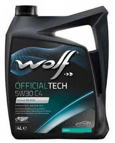 WOLF official TECH 5W30      4L image 1