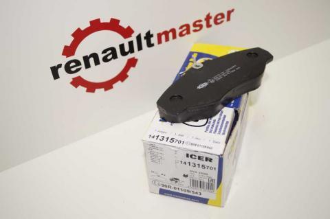 Колодки гальмівні передні Renault Trafic 2001-2015 ICER image 3 | Renaultmaster.com.ua
