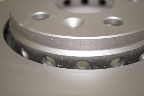 Гальмівний диск Renault Kangoo TEXTAR image 8 | Renaultmaster.com.ua