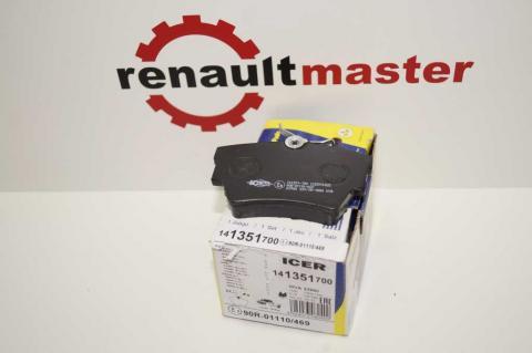 Колодки гальмівні задні Renault Trafic -01 ICER image 1 | Renaultmaster.com.ua