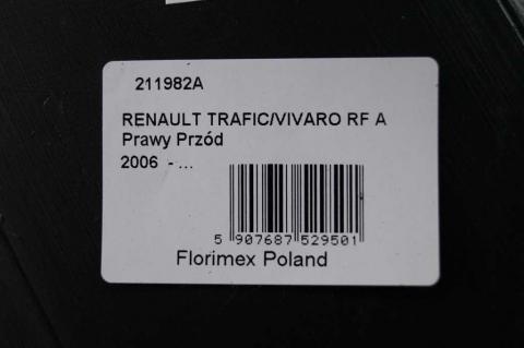Підкрилок Renault Trafic Florimex правий передня частина з 2007 image 3 | Renaultmaster.com.ua