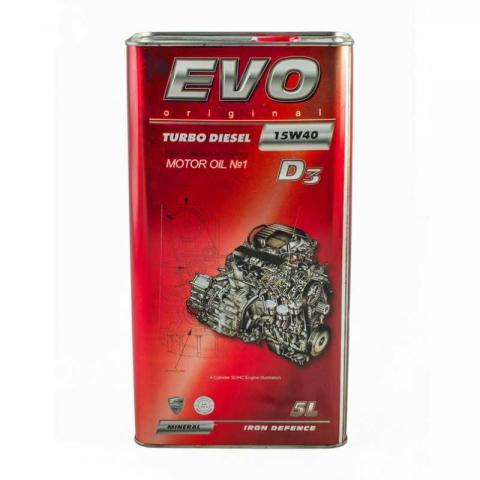 Олива моторна EVO TURBO DIESEL D3 15W-40  image 1 | Renaultmaster.com.ua