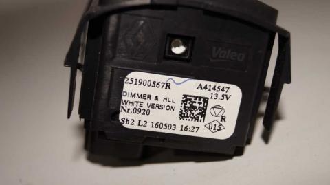 Регулятор корректора фар в салоне Renault Trafic 1.6 Б/У image 5 | Renaultmaster.com.ua