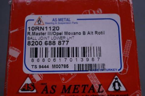 Шарова опора Renault Master/Movano AS Metal (Левая резьба) image 3 | Renaultmaster.com.ua