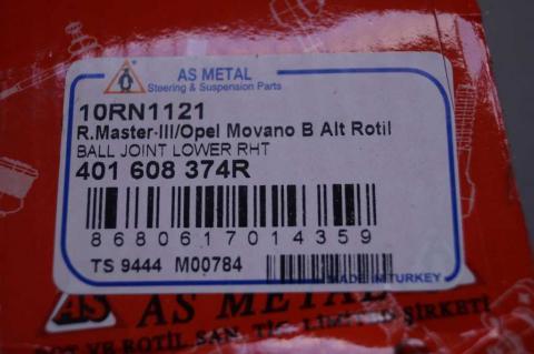 Шарова опора Renault Master/Movano (права різьба) AS image 3 | Renaultmaster.com.ua
