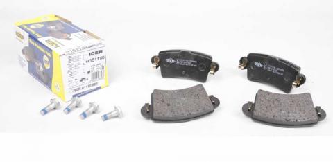 Гальмівні колодки задні ICER Master/Movano 98- image 1