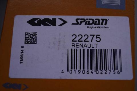 Комплект пильників гумових Renault Trafic 1.9 Spidan зовнішніх image 3   Renaultmaster.com.ua
